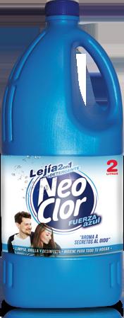 Lejía Neoclor + Detergente Fuerza Azul 2L